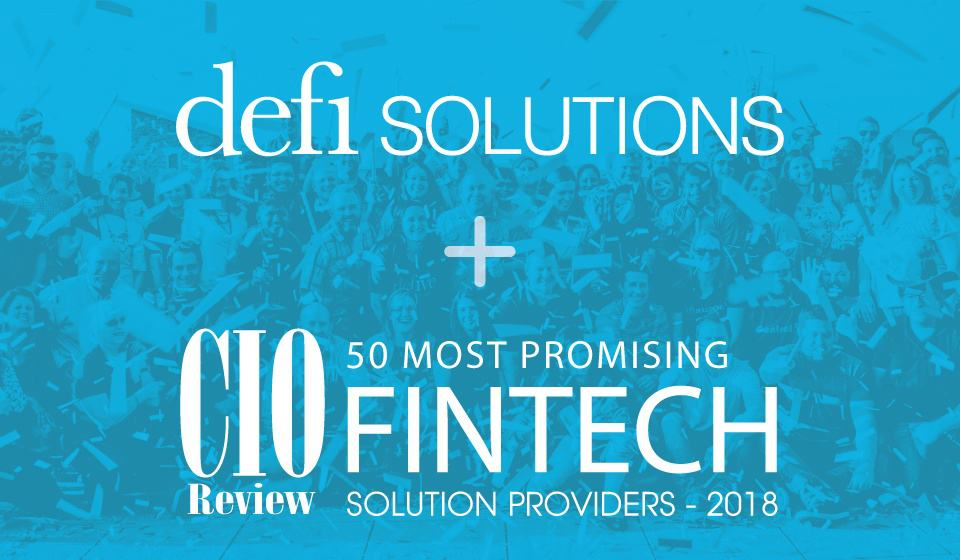 defi SOLUTIONS name CIO Review 50 Most Promising FIntech 2018