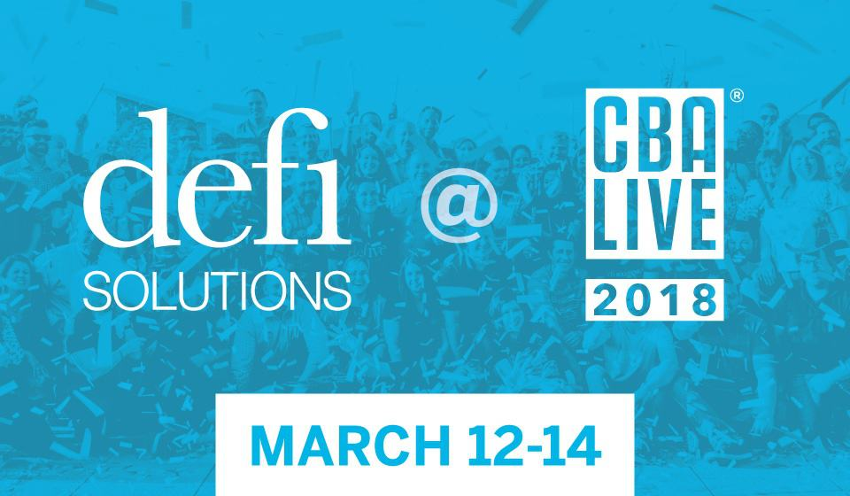 defi solutions at cba live 2018
